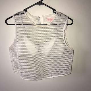 Mesh white top (size small)
