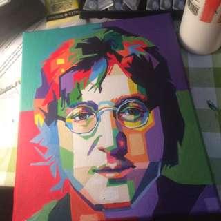 John Lennon Canvas Painting