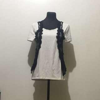 REPRICED!! Black Lace Vest