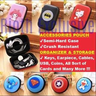 ★15 Designs Pouch★Earpiece,Keys,Coins,Cards★Superhero/Cartoon★(2 SIZE, 15 DESIGNS) - #UOBPayNow