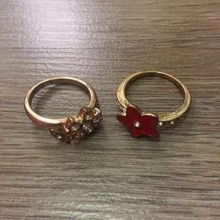 2pcs Gold Ring