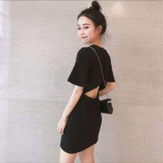 黑色鏤空連身衣