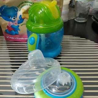 Nuby Sippy and Training Cup(2 in1)