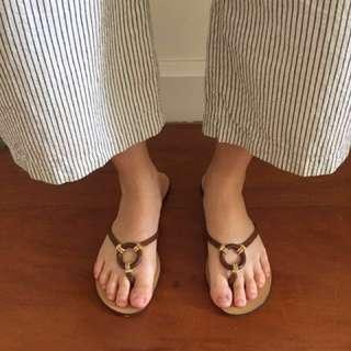 Original Brown Escada Sandals