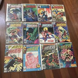 Marvel Comics Daredevil #158-199 Complete Frank Miller Run Bronze Age Classics First Elektra Bullseye Punisher King Pin
