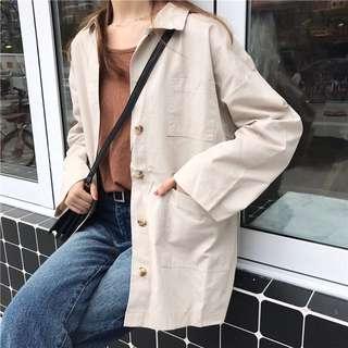 兩色 顯瘦 襯衫 外套