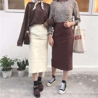 兩色 顯瘦 長裙