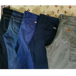 Carhatt, Dickies, Uniqlo, Deciders Pants