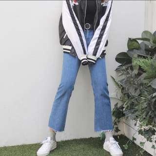 [二手]花泥小姐 韓系不收邊牛仔褲