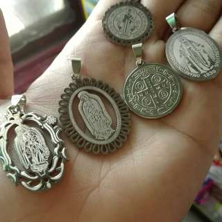 St Benedict And Lady Of Guadalupe Pendants