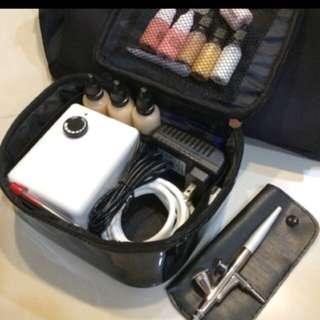 HD專業高清噴槍彩妝組 妝前保養定妝水粉底眼影