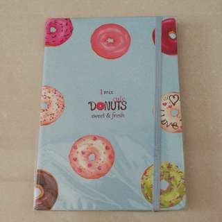 Donuts single lined notebook