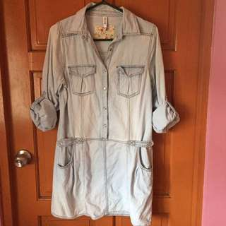 REPRICED Washed Jeans Dress