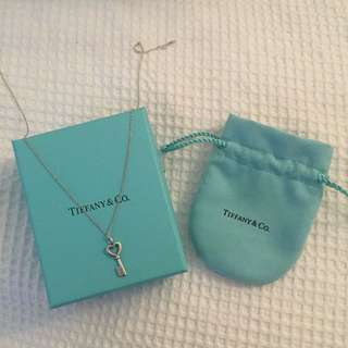 Tiffany & Co Heart Key Pendant Silver