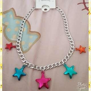 韓國制造 星星頸鏈