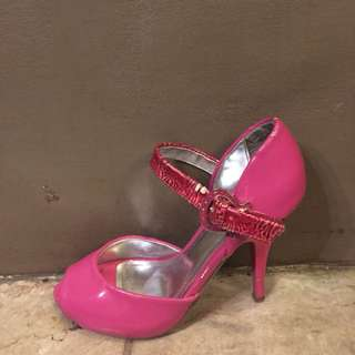 SYRUP pink open-toe pumps