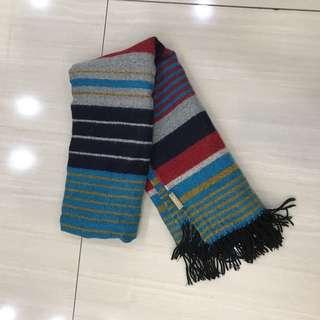 [二手]條紋大圍巾
