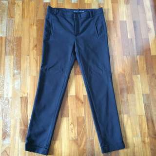 Black Slim Cut Pants Zara