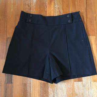 Black High Waist Shorts Zara