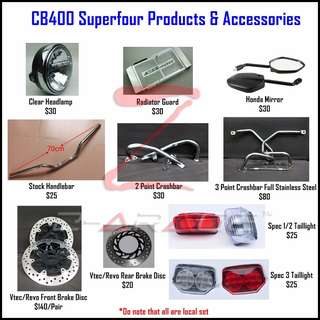 CB400 Superfour Products & Accessories