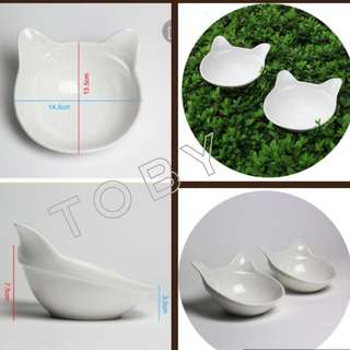 (NEW!) Pet Cat Ear Bowl Set
