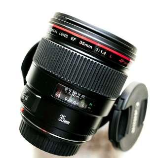 brandnew Canon 35mm f1.4L usm with warranty