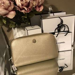 Brand New Oroton Makeup Bag Gold
