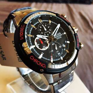 Brand New Pulsar V8 Racing Chronograph Watch By Seiko (NEGOTIABLE)