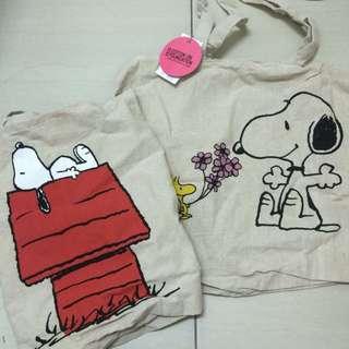 🚚 Snoopy 帆布環保購物袋