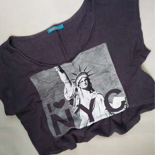 NYC crop top #below100