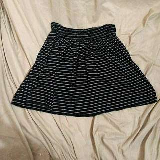 Striped Black Skirt