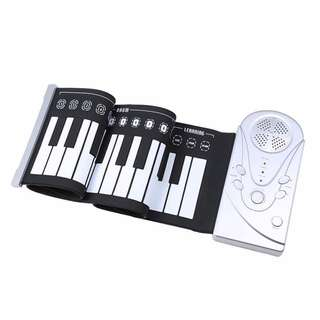Flexible Roll Up Electronic Soft Keyboard Piano Portable 49 Keys