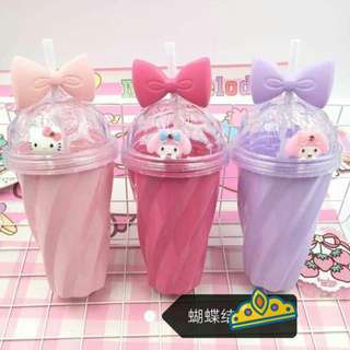 My Melody Drinking Cup w/ Cover & Straw
