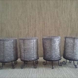 4pc Balinese Candle Holder