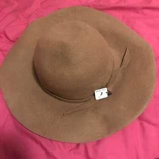 Wool Floppy Hat Brown