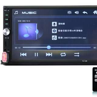 (包安裝) 7吋 CAR DVD Bluetooth Audio system 大面板 車機 藍芽 AUX FM USB MP3
