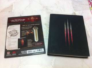 Diablo 3 limited edition strategy guide with bookmark