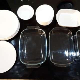IKEA Dinner Plate, Bowls, Glass & Ceramic Baking Trays