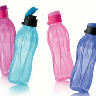 TUPPERWARE ECO 500ML flip flop cap bottles