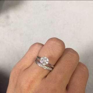 GIA 1卡鑽石戒指 diamond ring