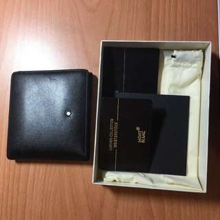 Authentic Mont Blanc Bi Fold Men's Wallet Leather Collection Meisterstock