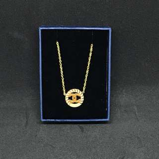 Chanel Gold Plated Necklace- stainless steel