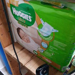 Brand New Huggies Ultra Gold Taped Diapers.  NB