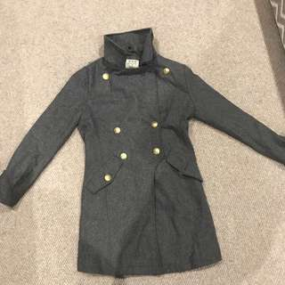 Grey color wool jacket