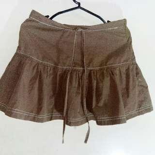 Short Brown Skirt