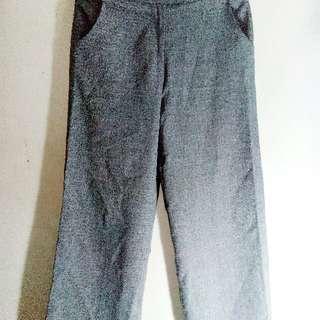Light Gray Flared Long Pants