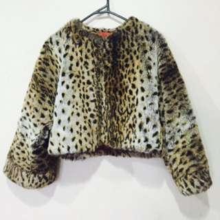 Vintage Faux Fur Cropped Jacket