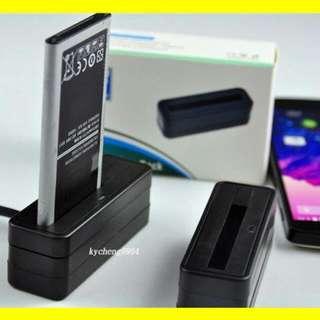 Fast Usb Battery charger 快速電池充電座 (後備電池的快速充電器) Galaxy Note 4 / Dual / Note 3 Note 2 Note 1 / S5 S4 S3 S2 / i9082 / i9060 LG V20 / V10 / G4 / G3 / G Pro 2 / G Pro battery dock charger 十分好用熱賣發售!! +送原廠 micro usb快線!! free QC 3.0 fast charging micro usb cable