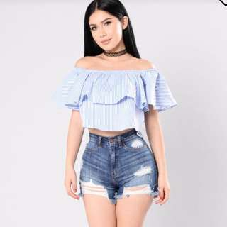 Fashion Nova ruffled shirt
