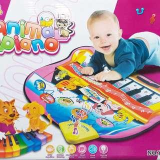 🚚 兒童多功能音樂遊戲地毯 可手腳並用的地毯電子鋼琴